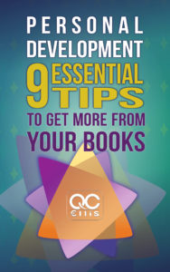 "book cover of ""Personal Development: 9 Essential Tips To Get More From Your Books"""